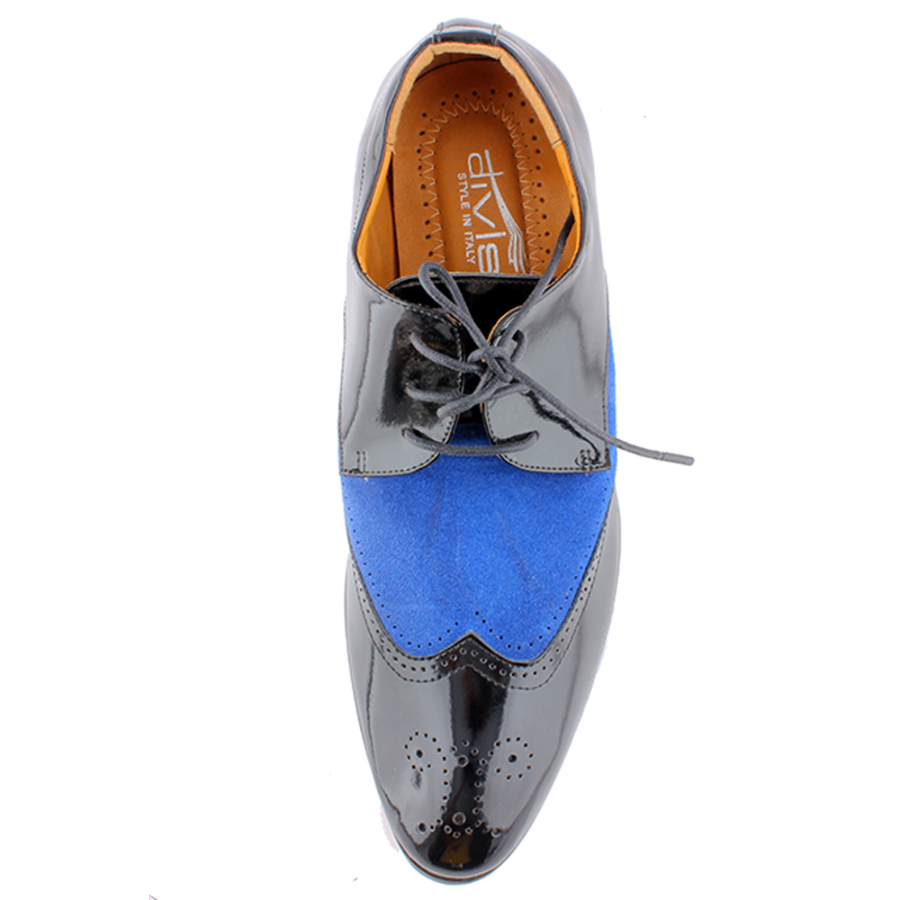 Totes gallore mens double tone lace up shoes blue - 7346