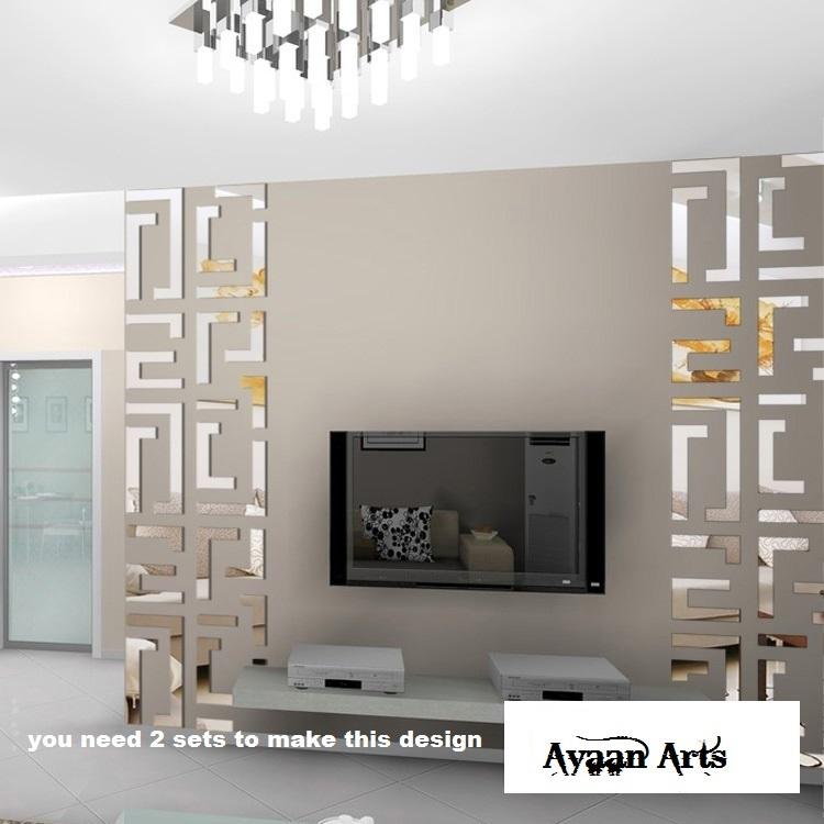 Mirror Wall Art Stickers 3d Wall Stickers Mirror Diy For Wall Decor Jb043l  Design