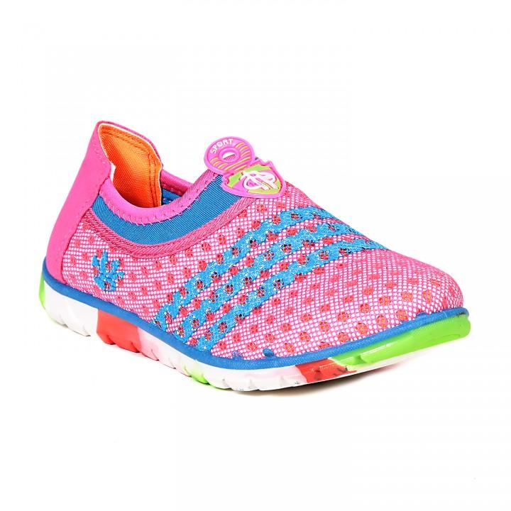 TEN Pink Fabric Casual Shoes (TENSNKR3BNDPNK02)