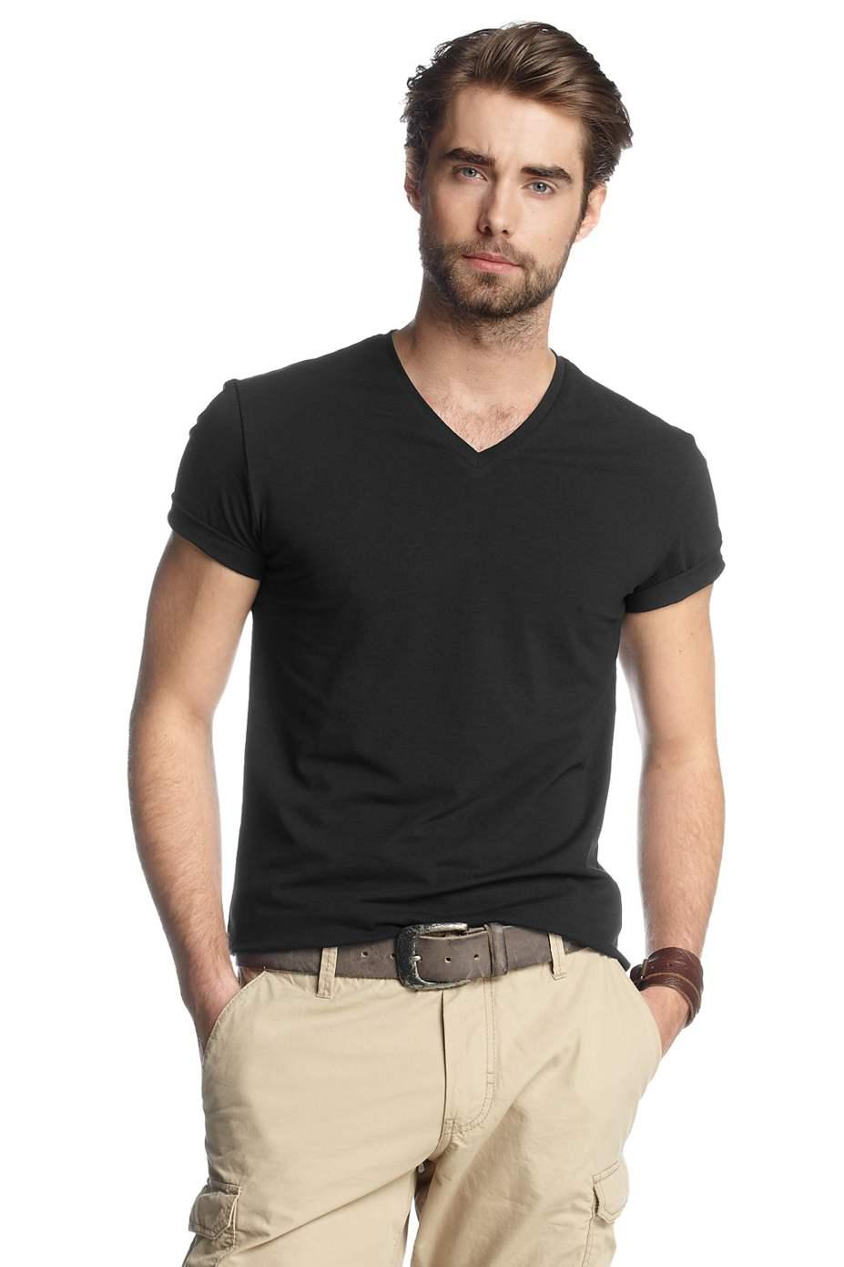 Born to ride men 39 s v neck t shirt black prices in india for V neck t shirt online shopping