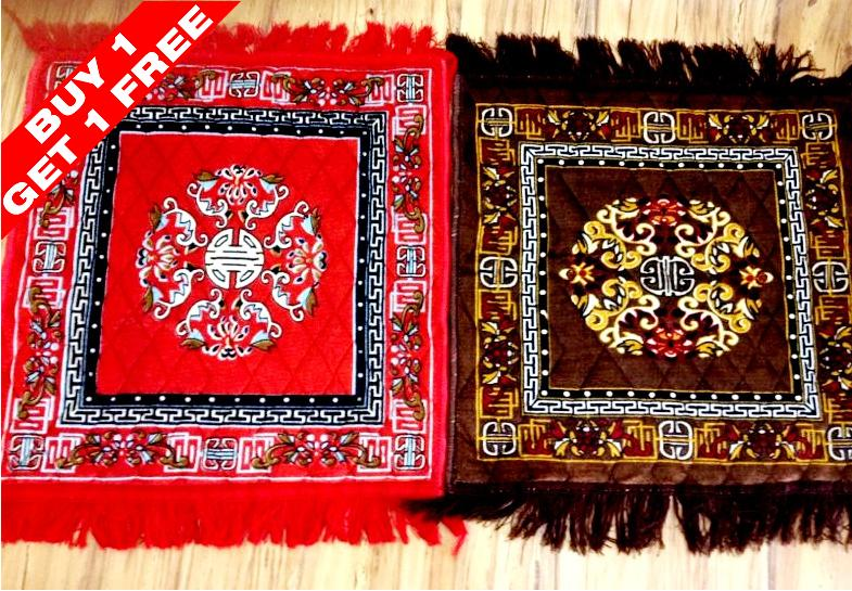 FabLoom's Designer Assan for Pooja (Set of 2)