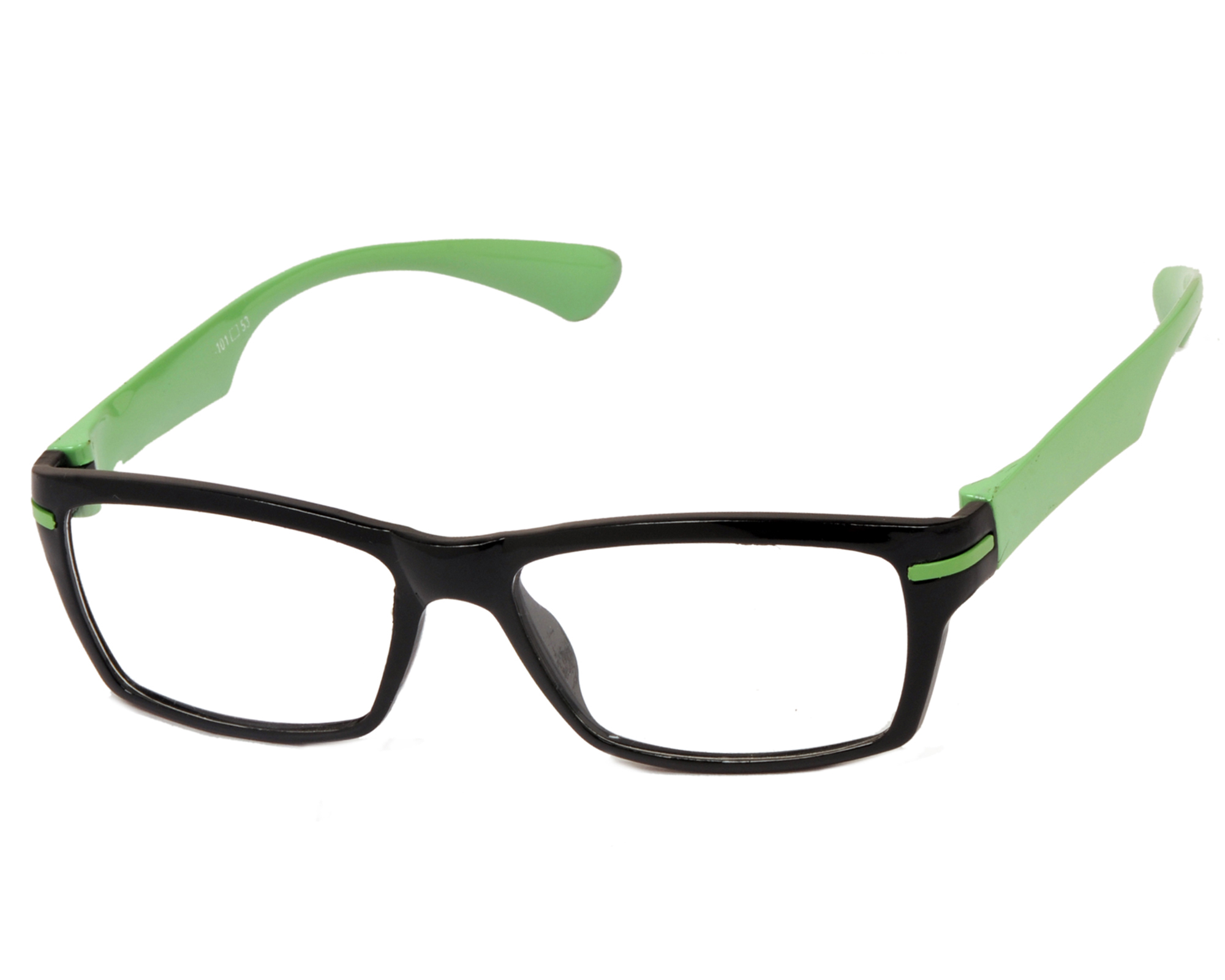 Eyeglasses Frames Green : Aoito Black Front Green Temples Spectacles Frames ...