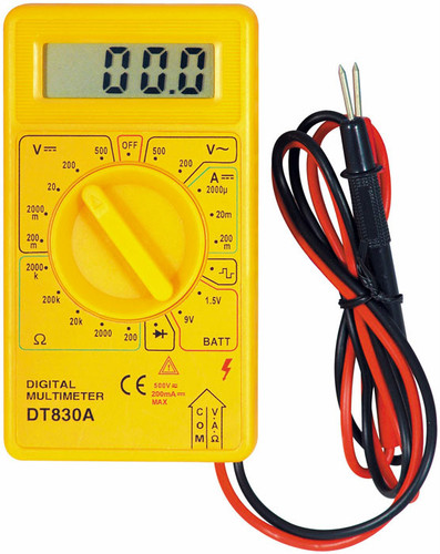 Digital Multimeter Meter Reading : Digital multimeter voltage current resistance meter