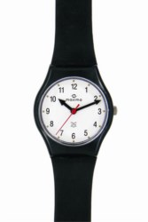 Maxima Fiber Collection WomenS Plastic Analogue Watch (Black/White) 03823PPNW