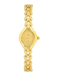 Maxima Gold Collection WomenS Brass Analogue Watch (Gold/Champ.) 04881BMLY
