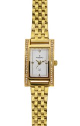 Maxima Gold Collection WomenS Stainless Steel Analogue Watch (Gold/White) 15262CMLY