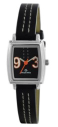 Maxima E-Co Collection WomenS Leather Analogue Watch (Black/Black) 38847LMLI