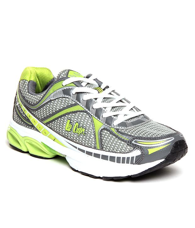 lee cooper green amp silver sports shoes in india