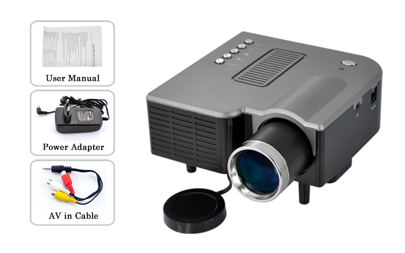 Portable Led Projector With Multi Function Interface Vga Avsd Usb Input