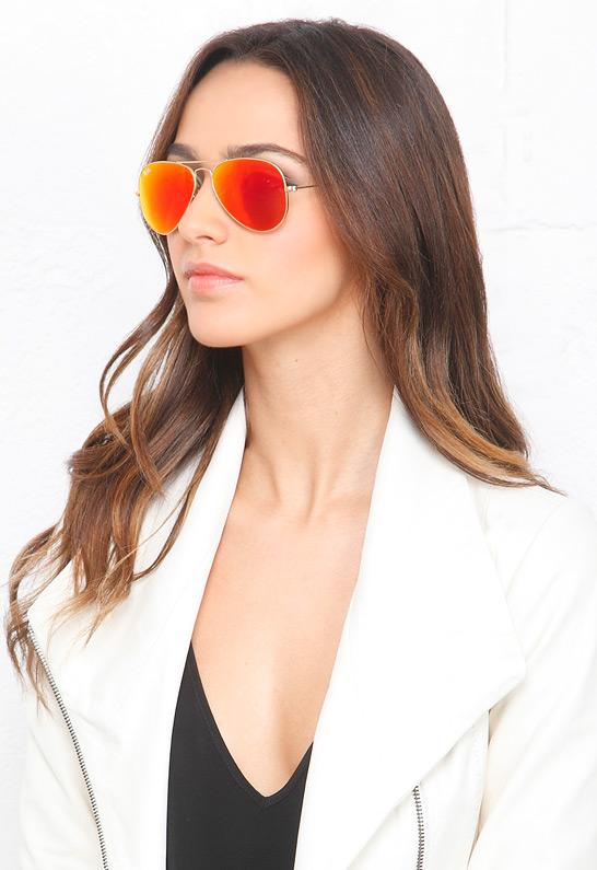 Ray Ban Aviator Mirrored Sunglasses