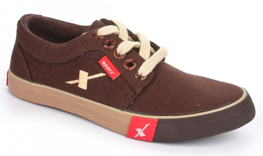 branded sparx canvas shoes sm175 in brown colour best