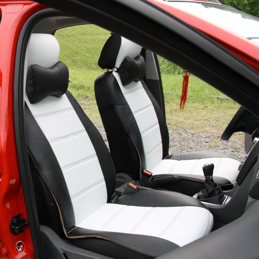 Maruti Suzuki Swift Dzire Leatherite Car Seat Cover Black