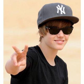 Ray.ban Justin Biber Black Glass Black Framed Wayfarer Sunglasses 1