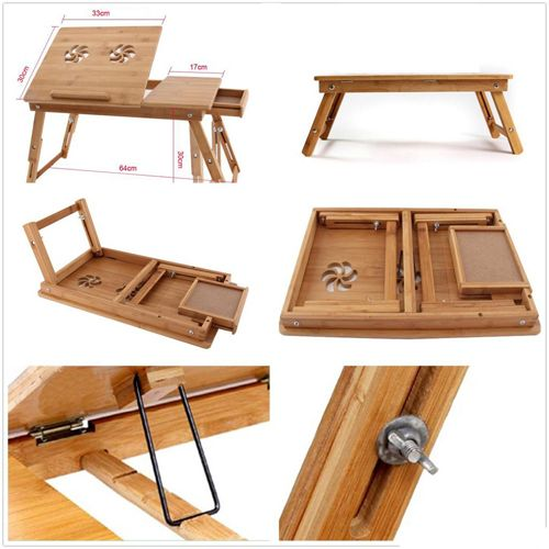 Folding Study Table Images : Multipurpose Wooden Foldable Laptop Study Table