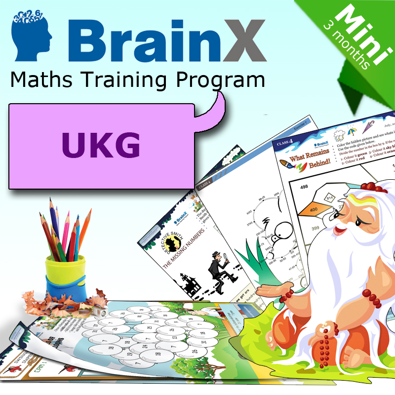 UKG Worksheet http://www.shopclues.com/brainxukgmini-3-months-math-worksheets-for-ukg.html
