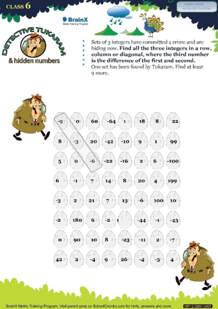 BrainX_Grade6_Mini--Math Worksheets for Grade 6