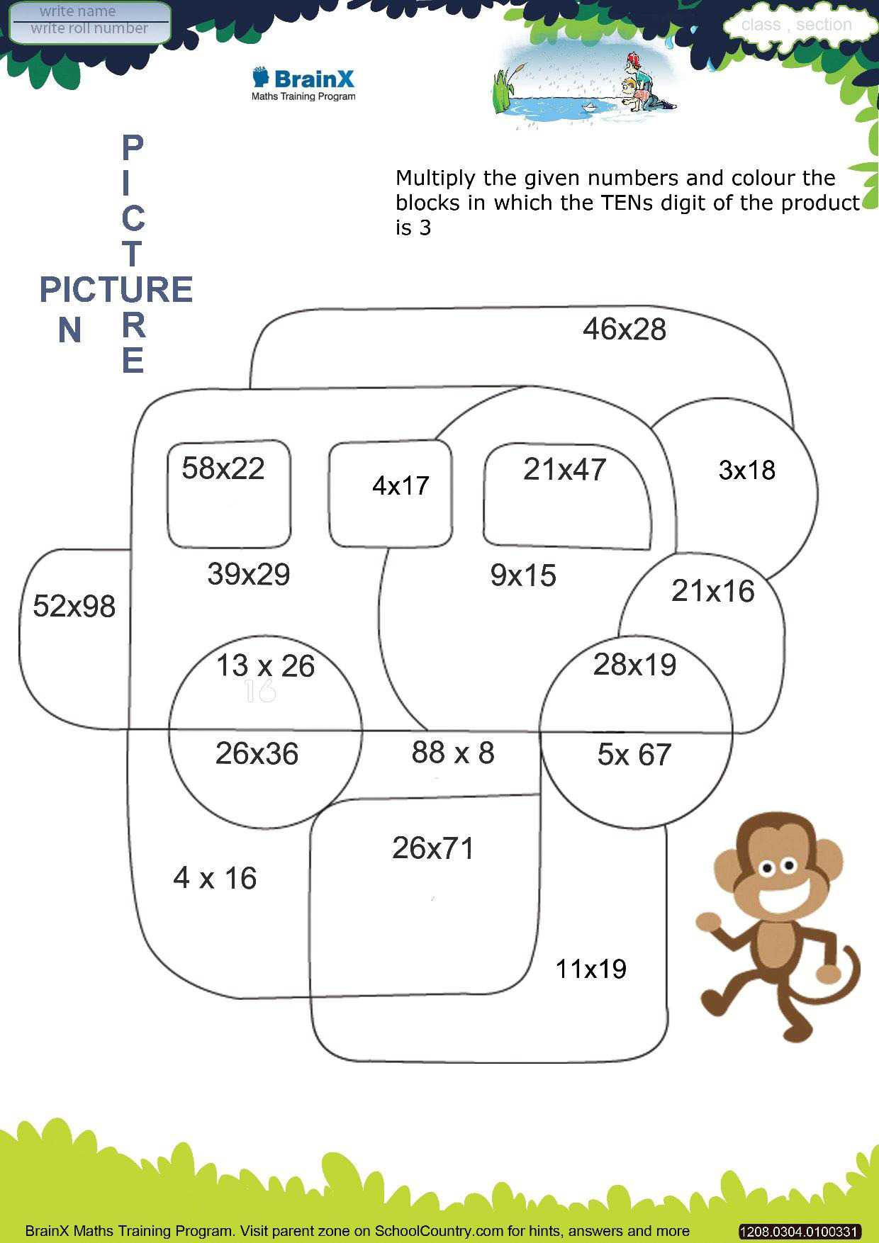 ... Math Activities and Worksheets for Grade 3 (3 months subscription