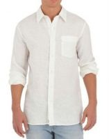 Linen Full Sleeve Shirt ( White )