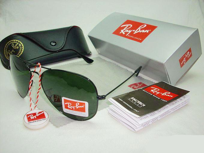 Ray Ban Rb 3026 Aviator Large Metal Ii Sunglasses ( Black Frame + ... 7c4a8f72bc