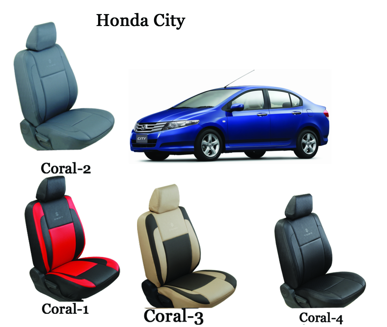 shopper 39 s hub car seat covers for honda city coral. Black Bedroom Furniture Sets. Home Design Ideas