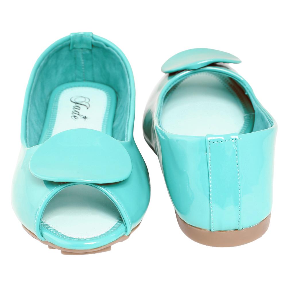 Jade Mint Peep Toe Casual Shoe