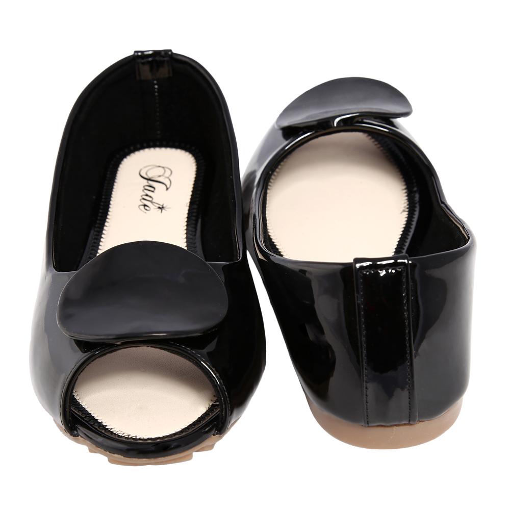 Jade Black Peep Toe Casual Shoe
