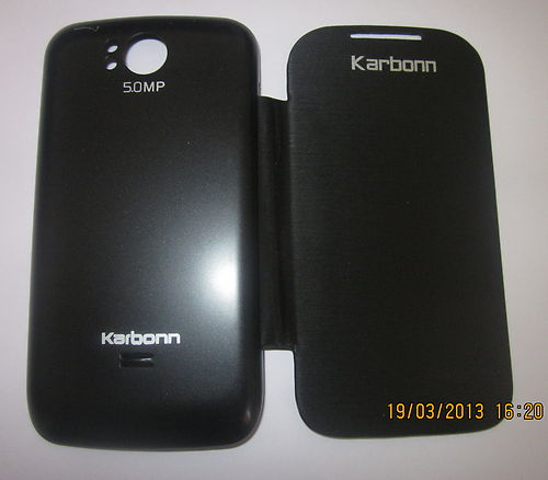KARBON KARBONN A9+ A9 Plus FLIP COVER CASE DIARY CASE BATTERY DETACHABLE BLACK