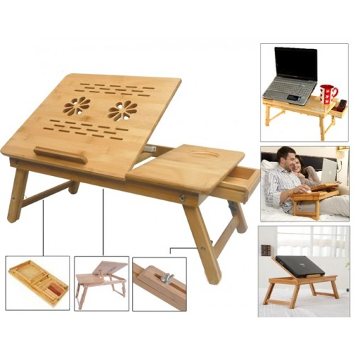 Folding Study Table : ... Pad & Stand Multipurpose Foldable Wooden Laptop Table Study Table