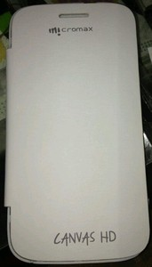 NEW MICROMAX CANVAS HD A116 FLIP COVER/CASE/POUCH WHITE COLOUR