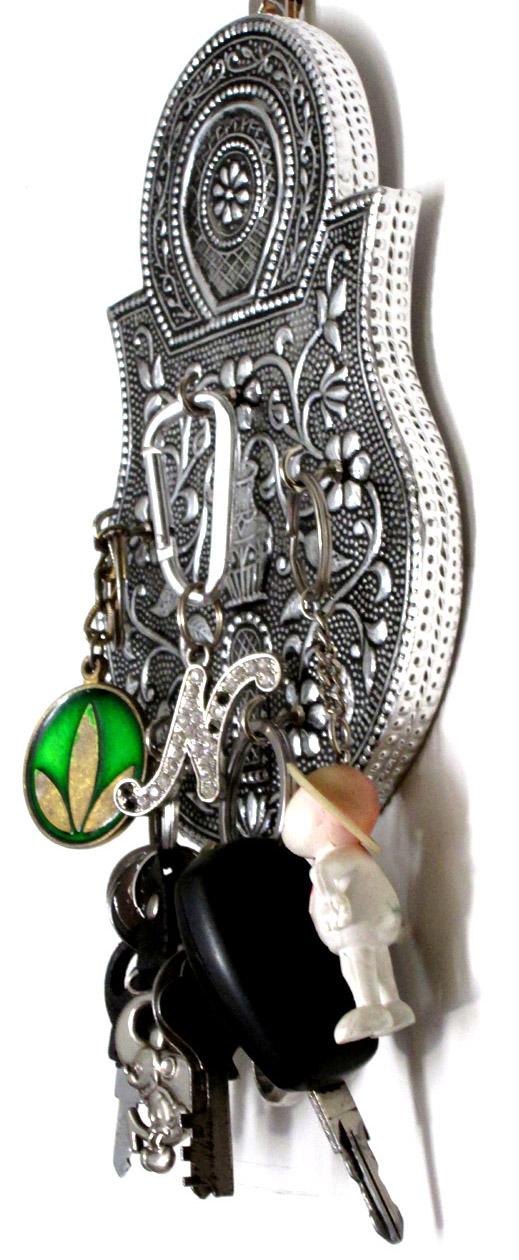 Key Stand Designs : Handmade decorative wall mounted key stand holder lock