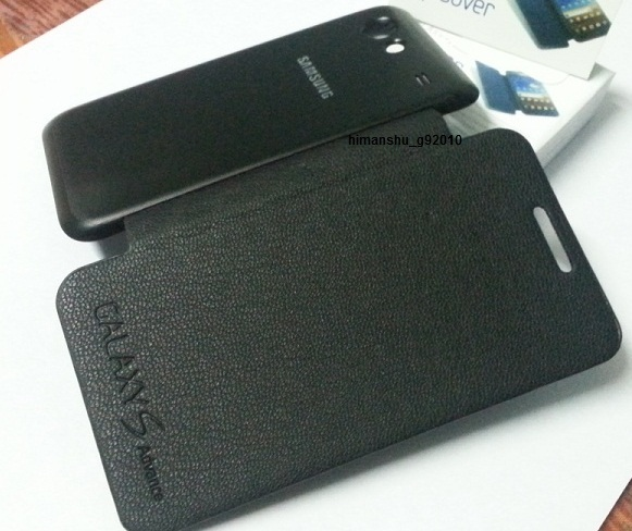 SAMSUNG GALAXY S ADVANCE i9070 BATTERY FLIP COVER CASE BOOK CASE - BLACK