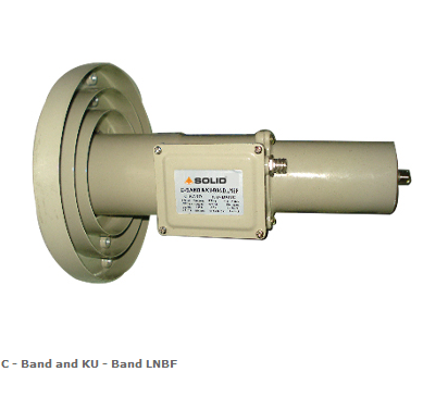C+Ku Dual Band LNB for C-Band and Ku-Band Satellite Signals Reception