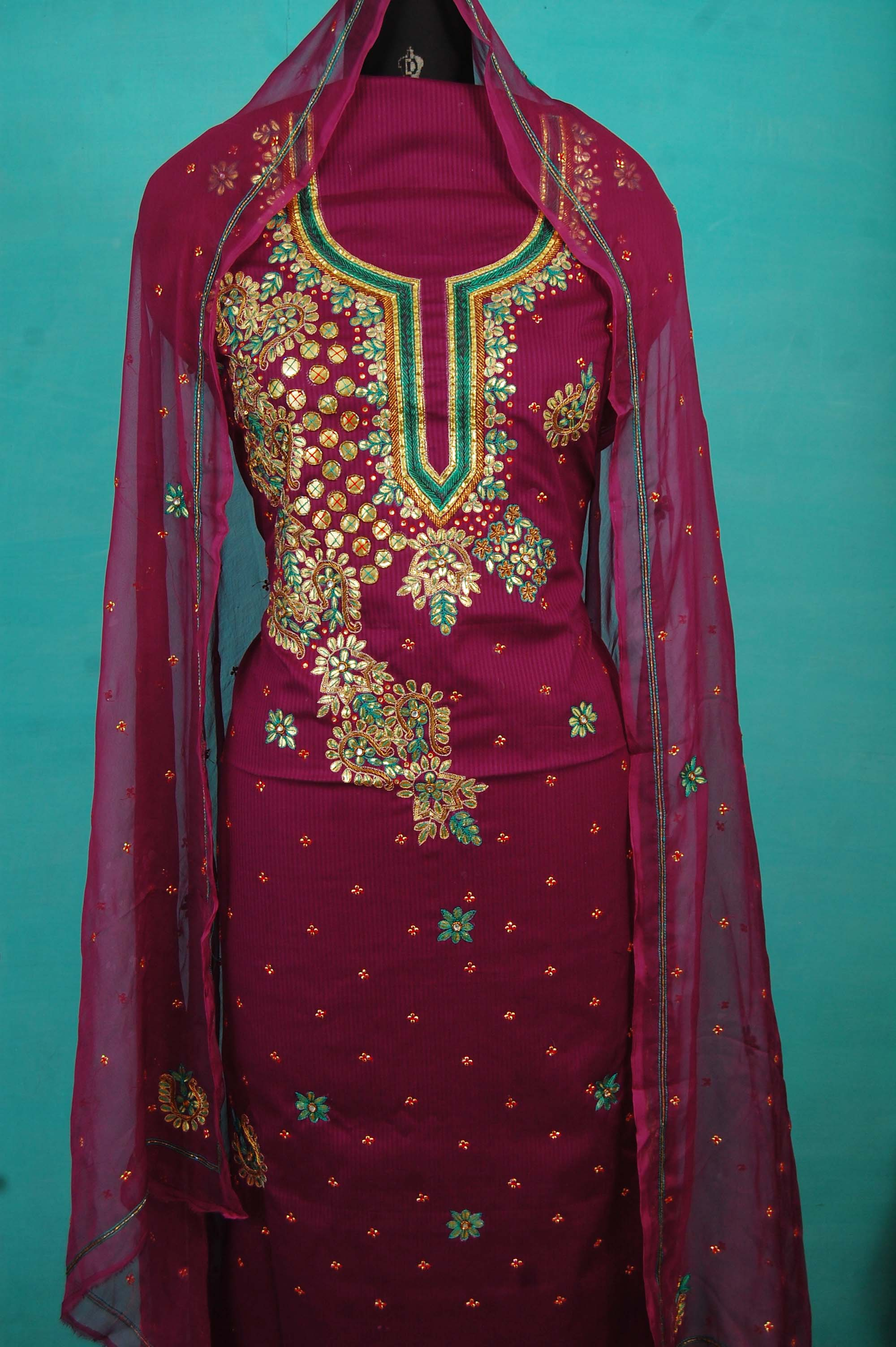 Buy online iramantra hand embroidery salwar suit