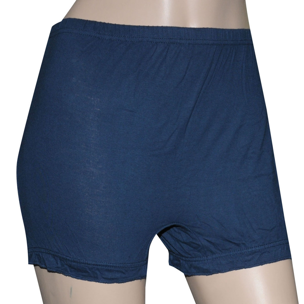 Poliss Navy Blue Plain Shorts