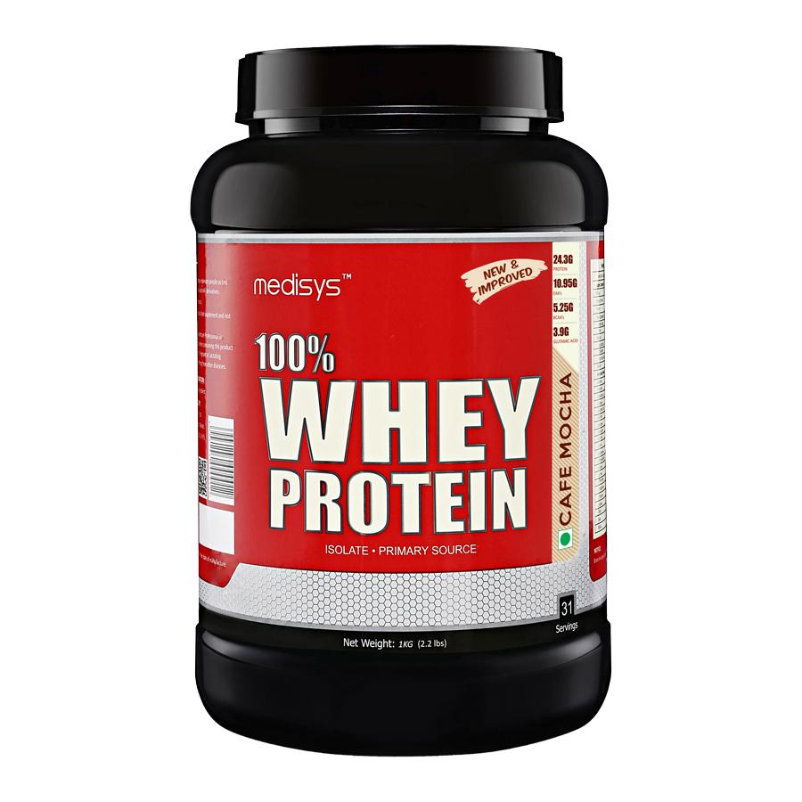 Medisys 100 Whey Protein - Cafe Mocha - 1Kg