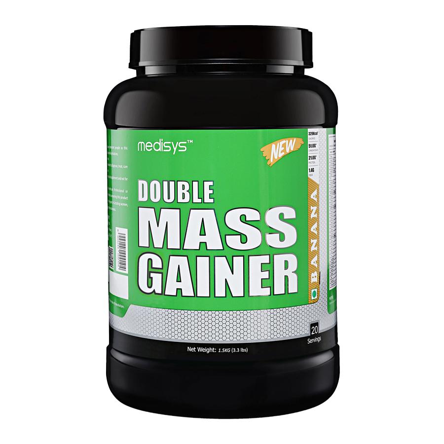 Medisys Double Mass Gainer - Banana - 1.5 Kg