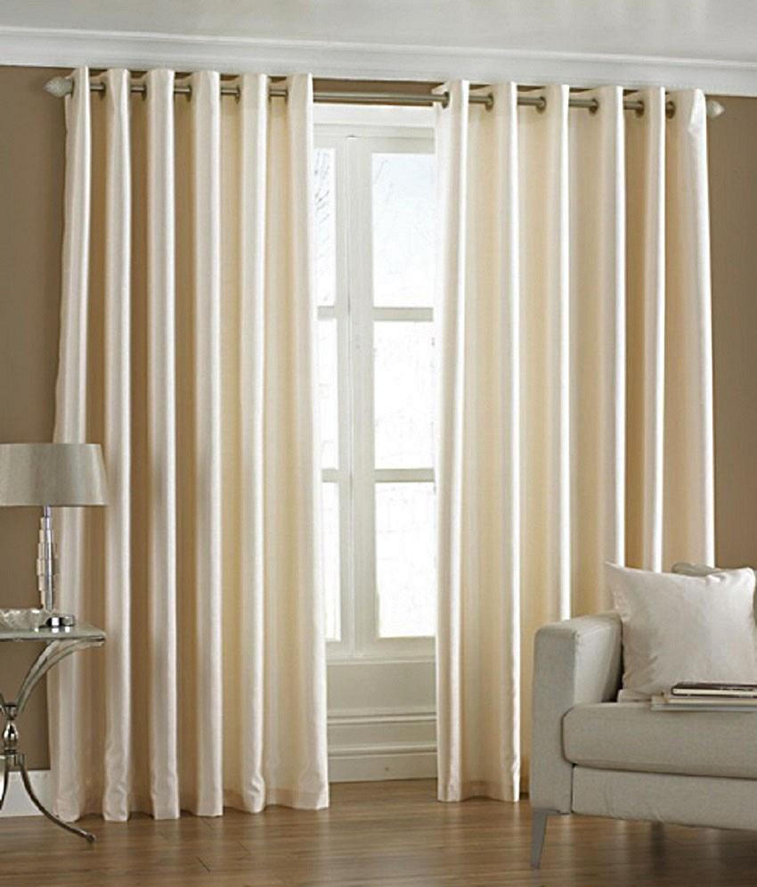BSB Trendz Plain Pack Of 2 Window Curtain (P-103)