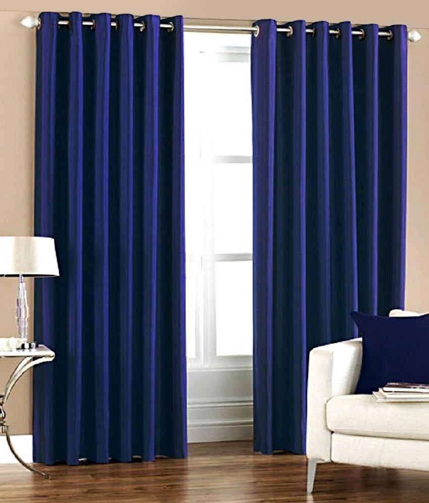 BSB Trendz Plain Pack Of 2 Window Curtain (P-104)