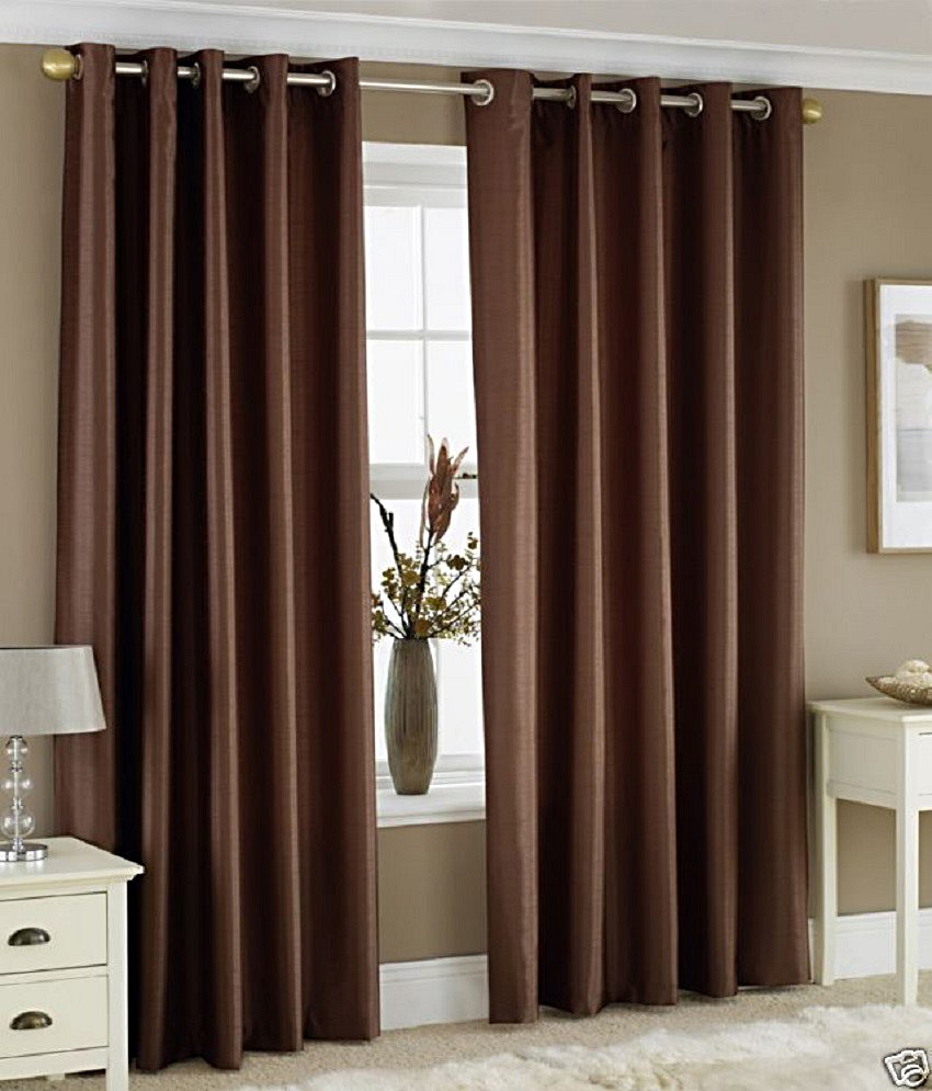 BSB Trendz Plain Pack Of 2 Window Curtain (P-96)