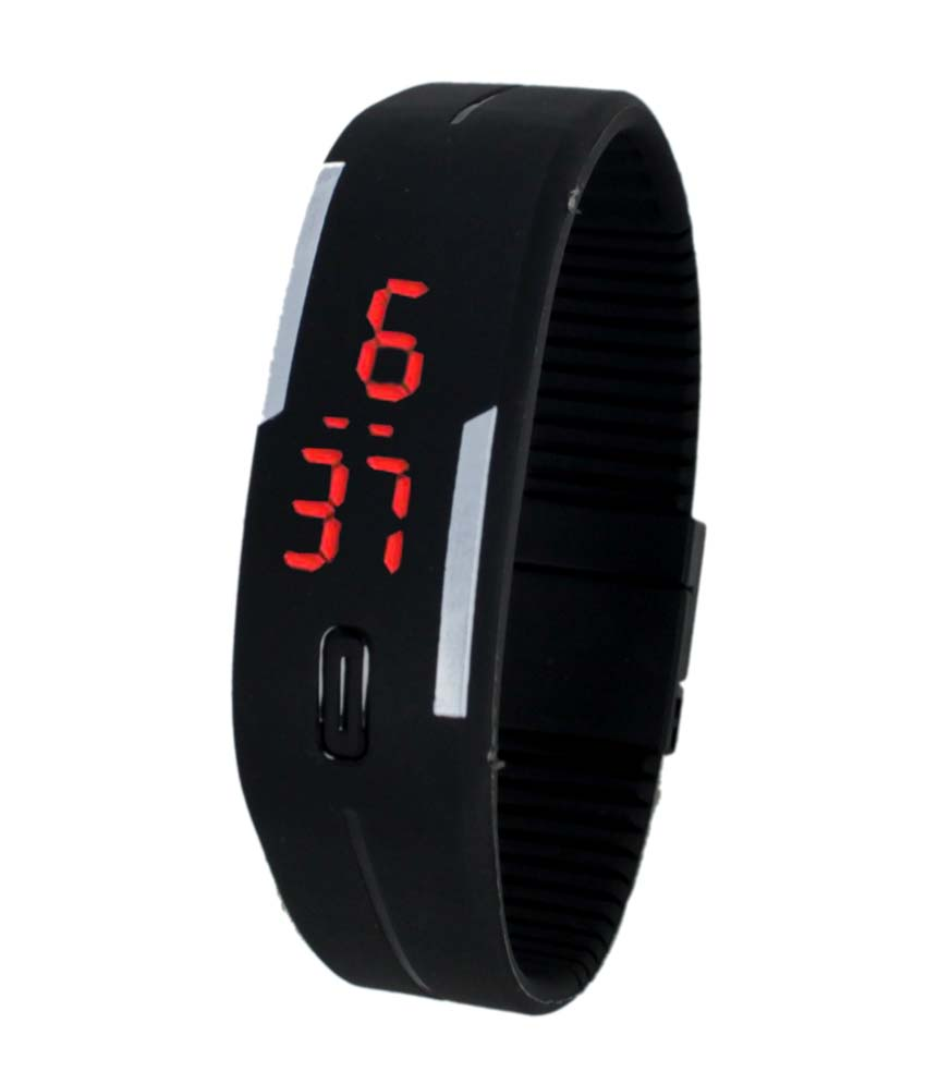 Black Digital LED Fancy watch for Girls and Womens BY MISS