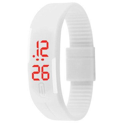 Casual LED White Bracelet Watch for Men  Women by miss