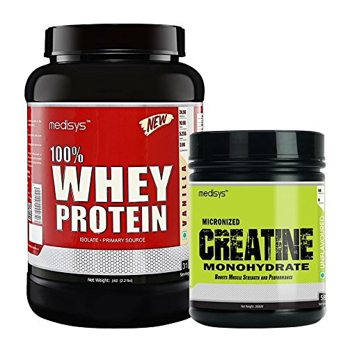 Medisys Muscle Gain Combo Vanilla Whey Protein 1Kg+Creatine