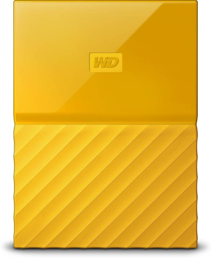 WD My Passport 1TB Hard Drive (yellow) at shopclues