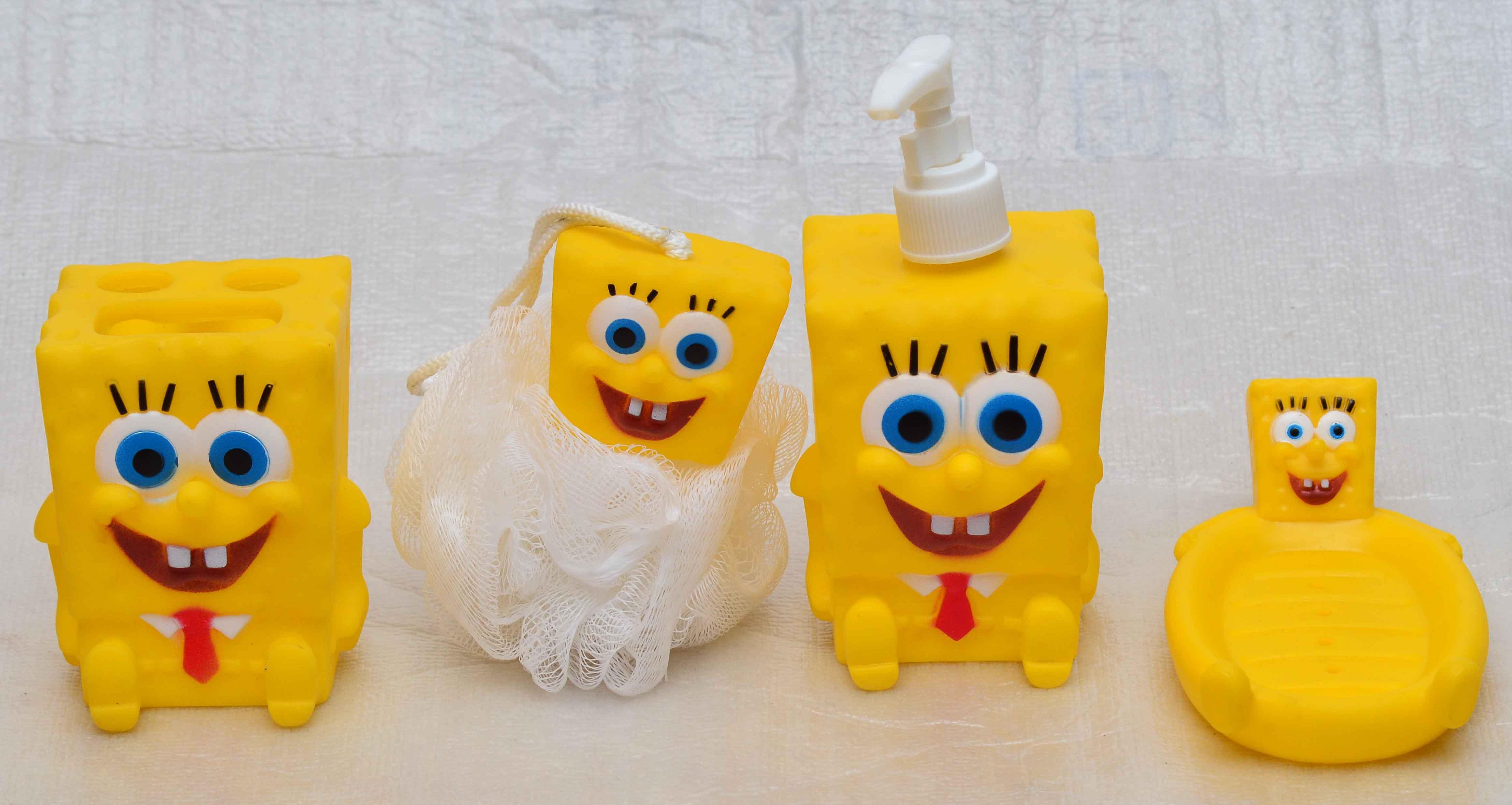 Spongebob squarepants bathroom accessories - Spongebob Bathroom Set Kids Accessories On Nickelodeon
