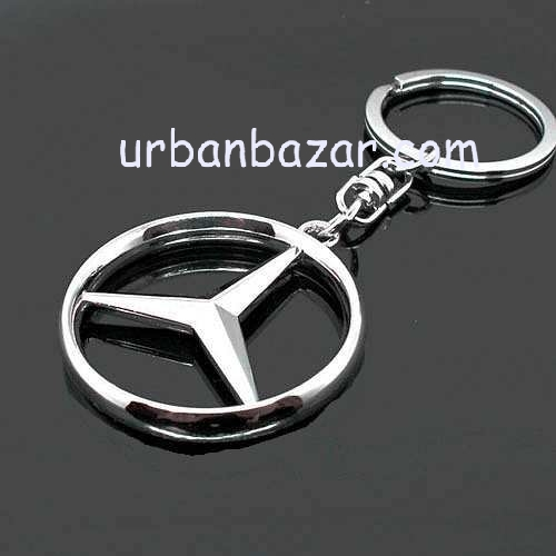 Mercedes benz stylish key chain metallic keychain car bike for Mercedes benz key chain