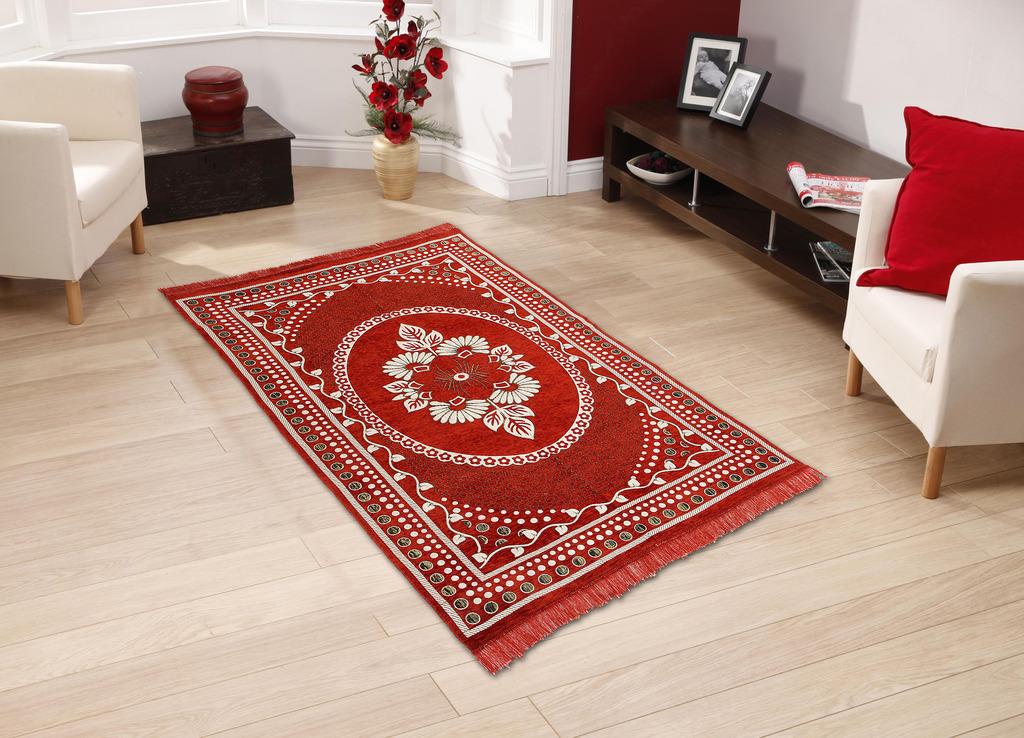 BSB Trendz Velvet Touch Abstract Chenille Carpet 7X5 Feet
