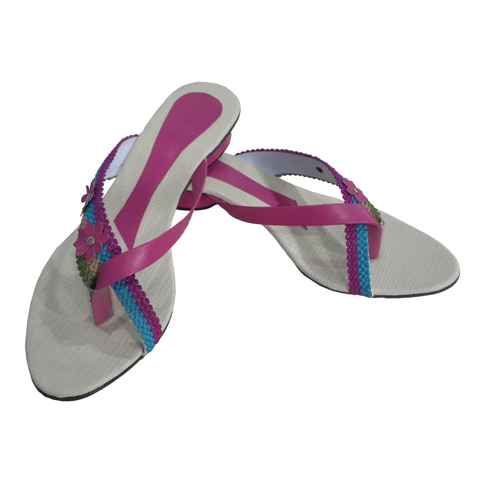 IND-LADIES FOOTWEAR FLAT SANDAL CHAPPAL SLIPPER WOMEN'S
