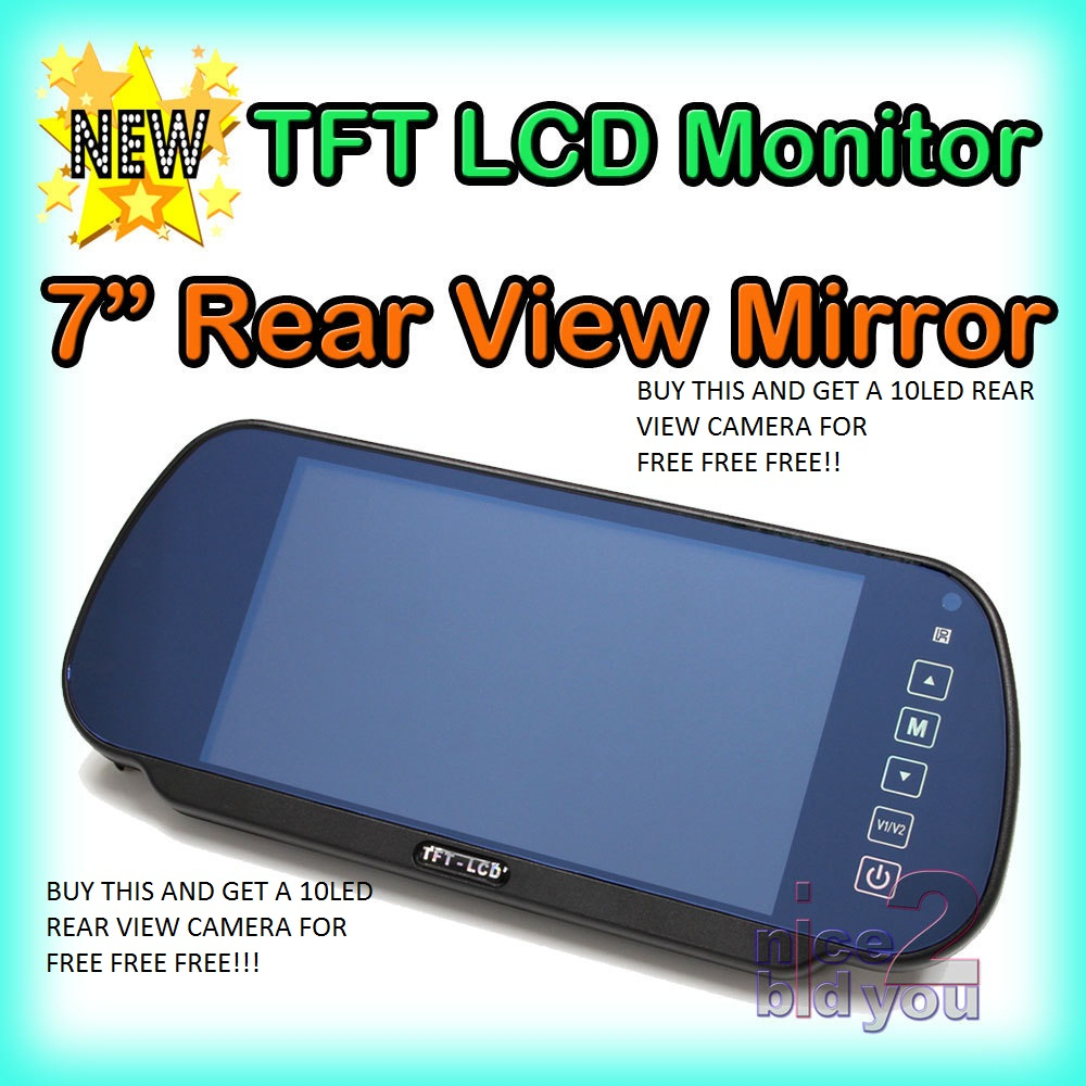 7 car tft lcd rear view mirror monitor parking backup. Black Bedroom Furniture Sets. Home Design Ideas
