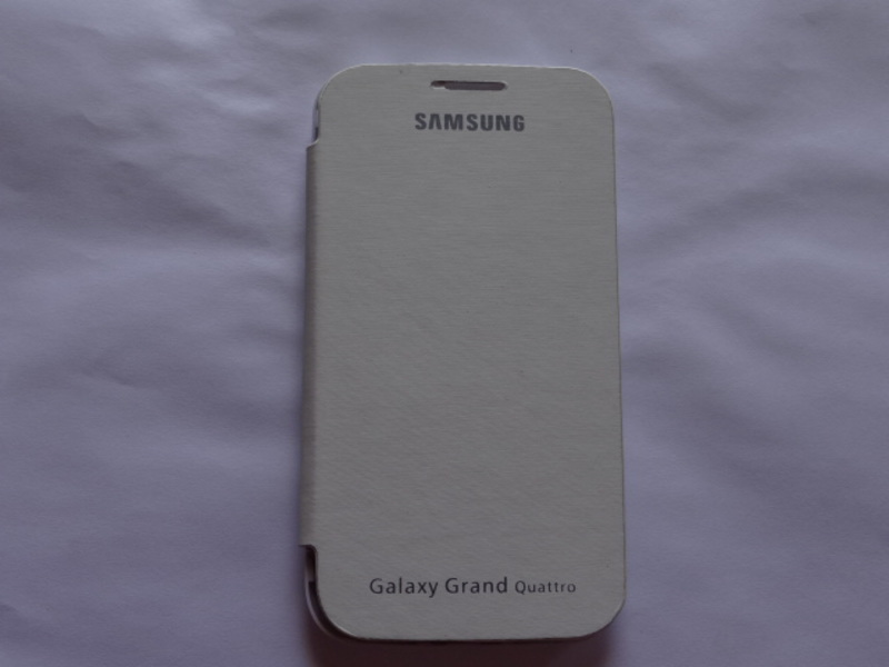 White Matte Finish Flip Cover Case pouch for Samsung Galaxy Grand QUATTRO i8552
