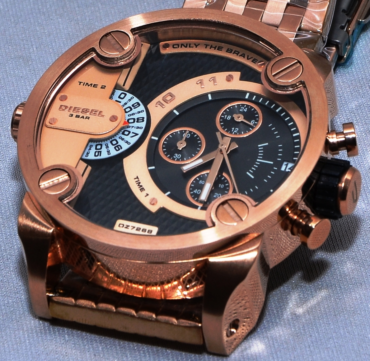 Diesel DZ7268 Men's Fashion Rose Gold Case Steel Strap ...